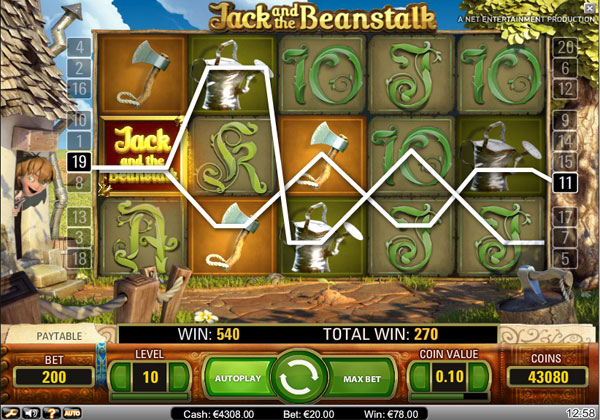 Jack and the Beanstalk Video Slot Game