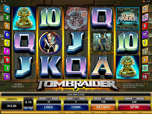 Lara Croft: Tomb Raider™ Online Slot Microgaming