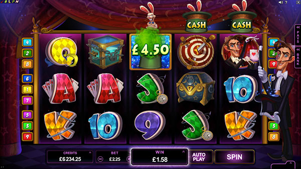 Rabbit in the Hat Online Slot Microgaming