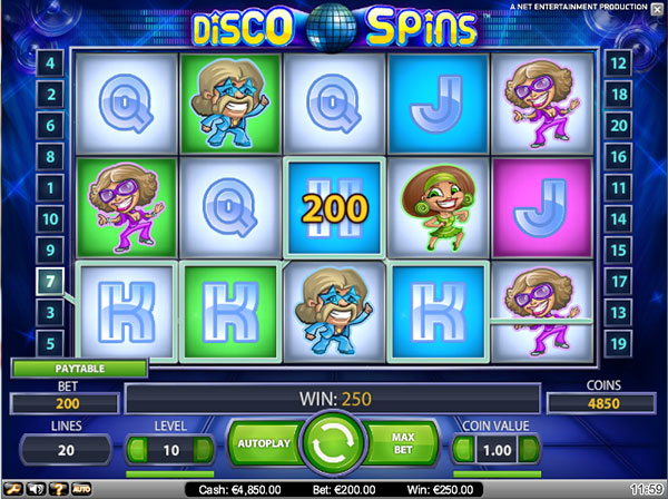 Disco Spins Video Slot Game