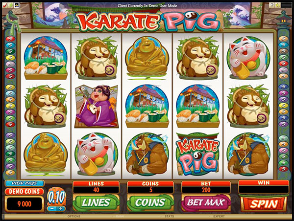 Karate Pig Online Slot Game