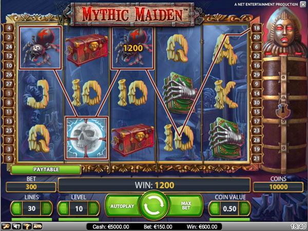 Mythic Maiden Video Slots