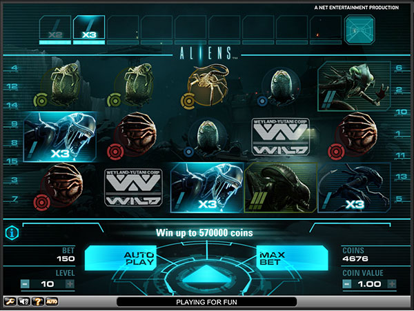 Net Entertainment Online Slots Aliens