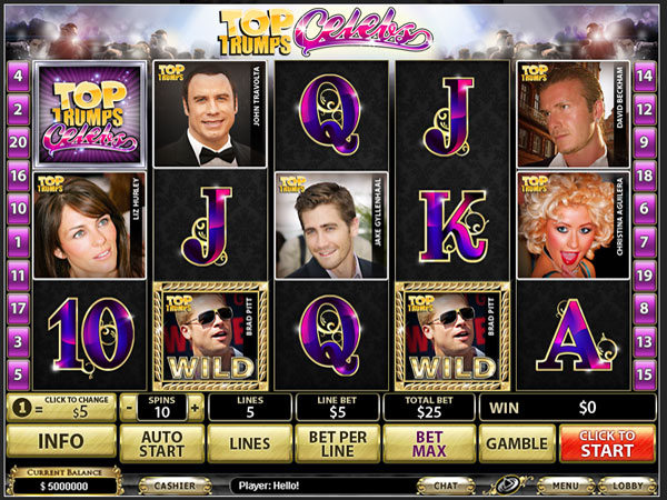Top Trumps Celebs Video Slots